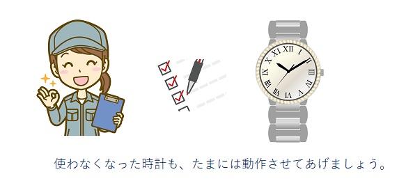 時計の動作確認