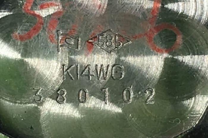 時計の裏蓋の写真
